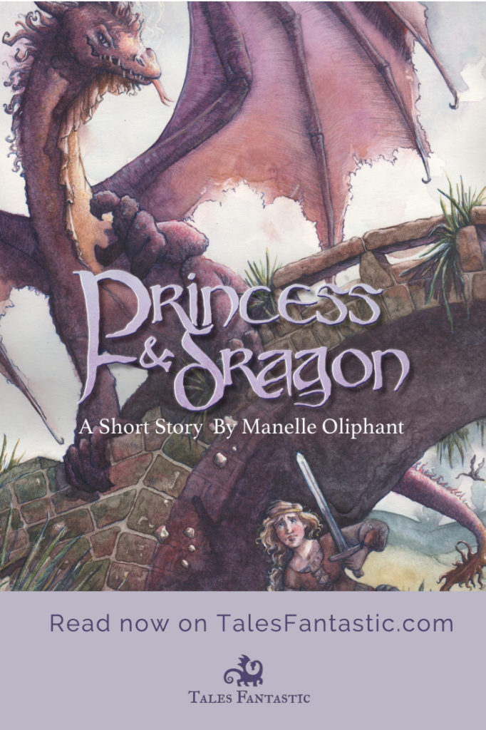 #princess #dragon #illustration This princess prepares to fight a dragon for the safety of her kingdom.